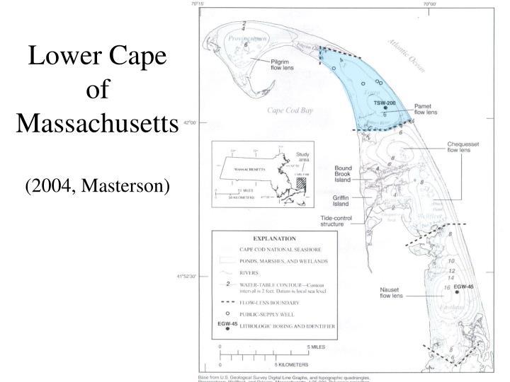 Lower cape of massachusetts 2004 masterson