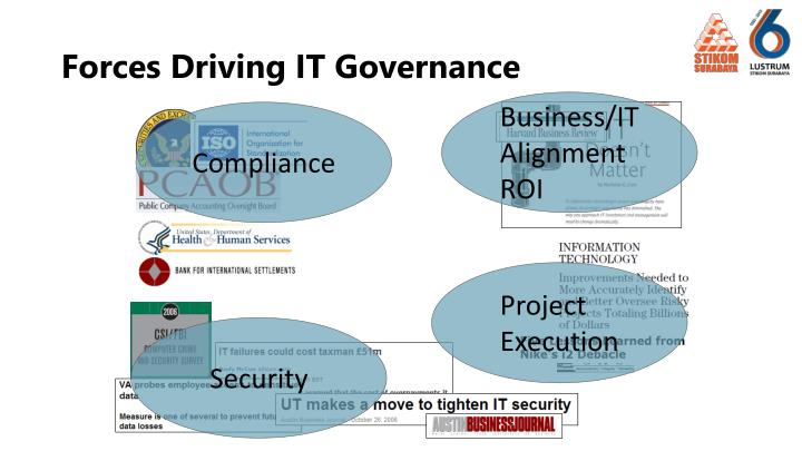 Forces driving it governance