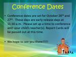 conference dates