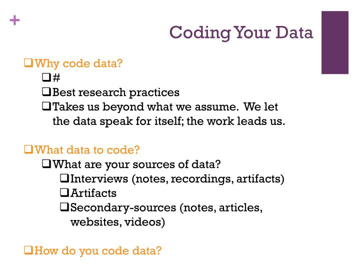 Coding Your Data
