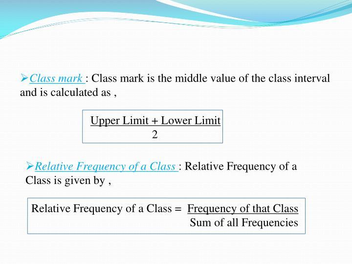 Class mark