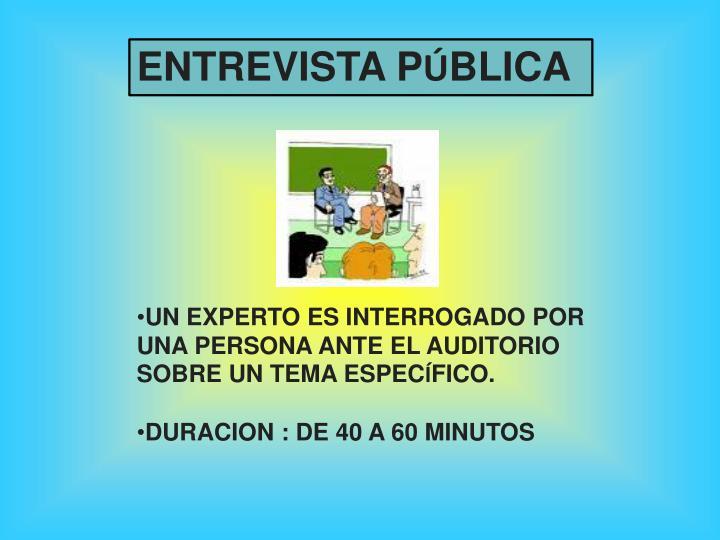 ENTREVISTA P