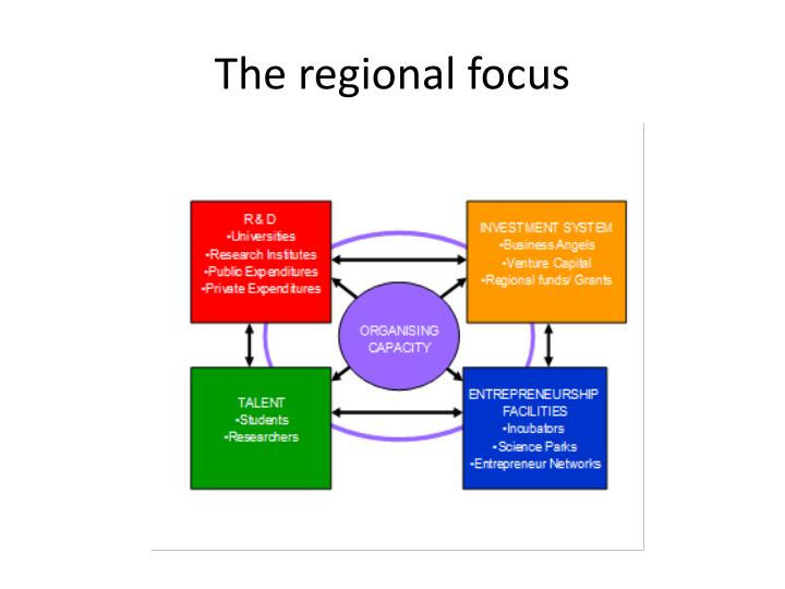 The regional focus