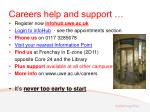 careers help and support
