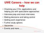uwe careers how we can help