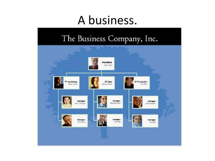 A business