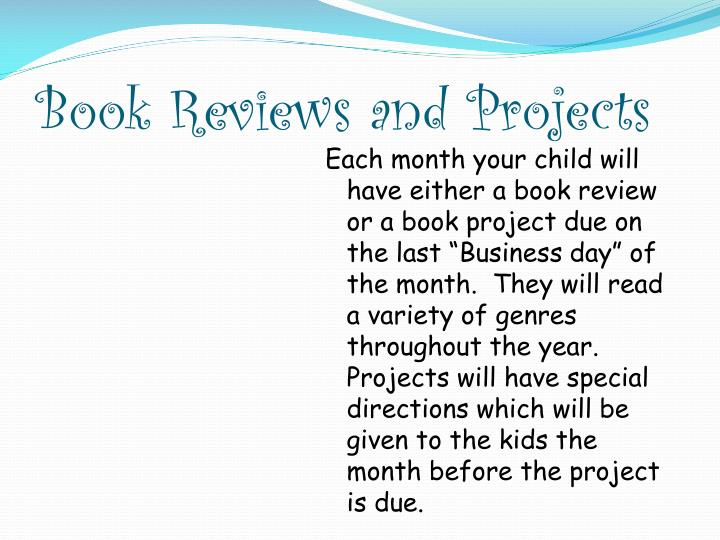 Book Reviews and Projects