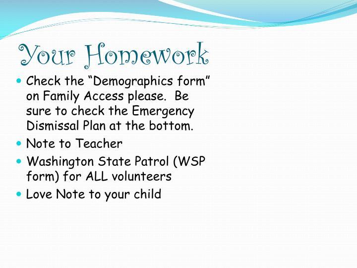 Your Homework
