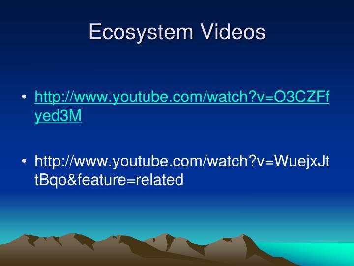 Ecosystem Videos
