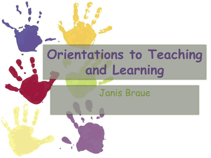 orientations to teaching and learning n.