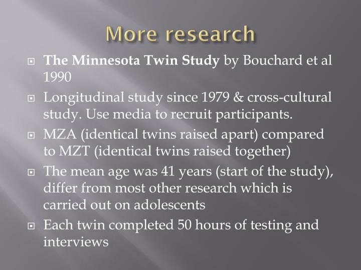 More research