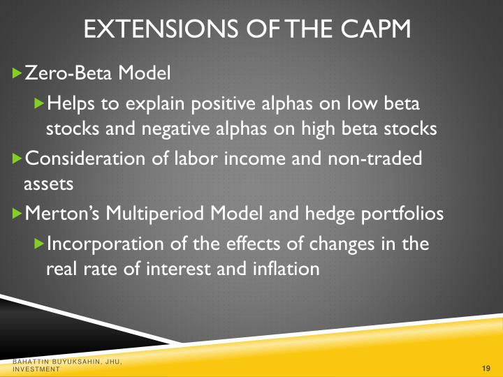 Extensions of the CAPM