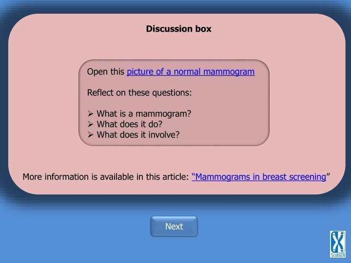 Discussion box