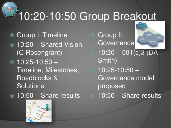 10:20-10:50 Group Breakout