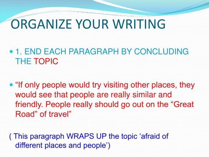 Organize your writing2
