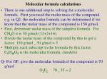 molecular formula calculations