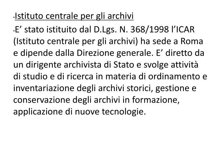 Istituto centrale per gli archivi