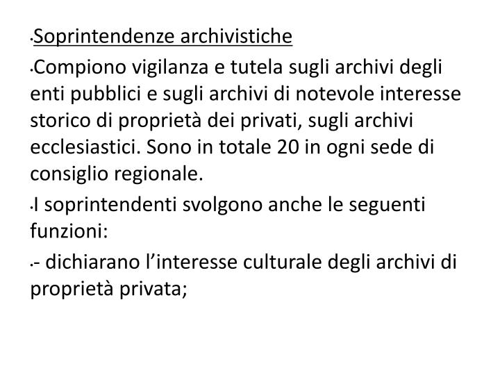 Soprintendenze archivistiche