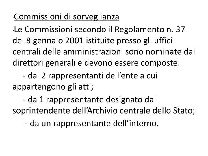 Commissioni di sorveglianza