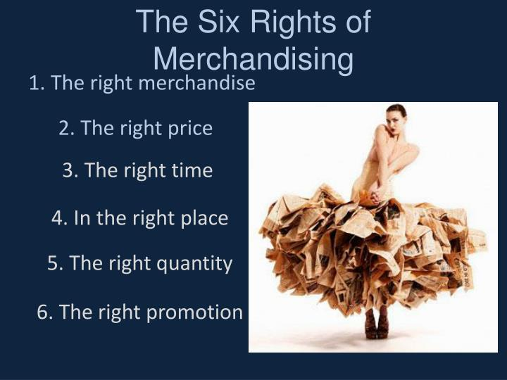 The six rights of merchandising