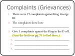 complaints grievances