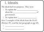 i ideals