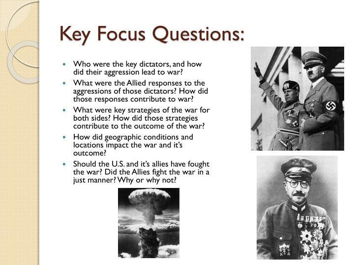 Key focus questions