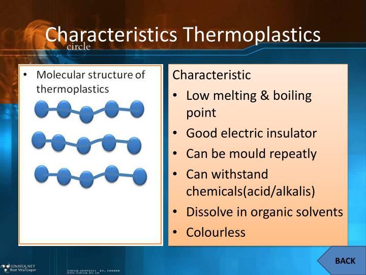 Characteristics Thermoplastics