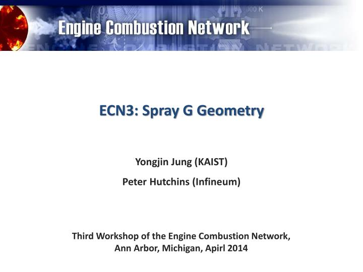 ECN3: Spray G Geometry