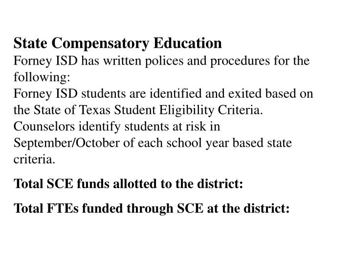 State Compensatory Education