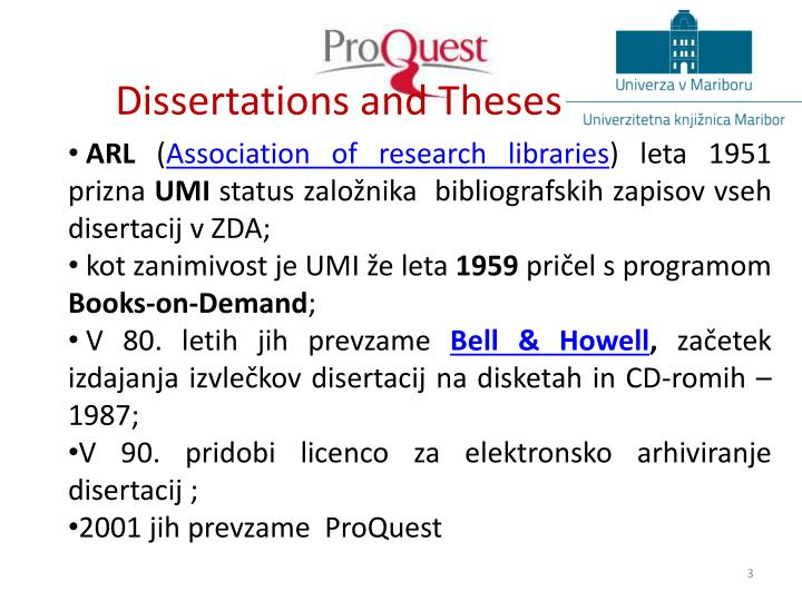 Dissertations and theses1
