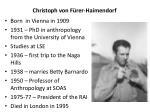 christoph von f rer haimendorf