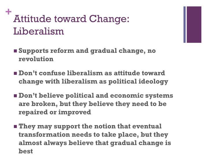 Attitude toward Change: Liberalism