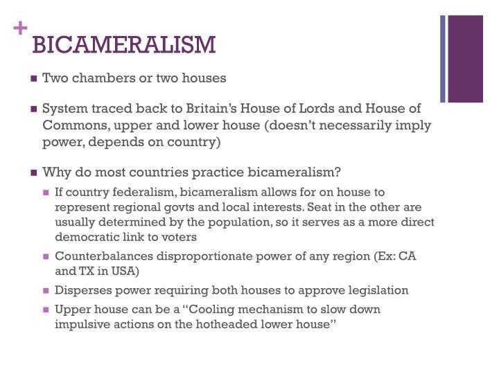 BICAMERALISM