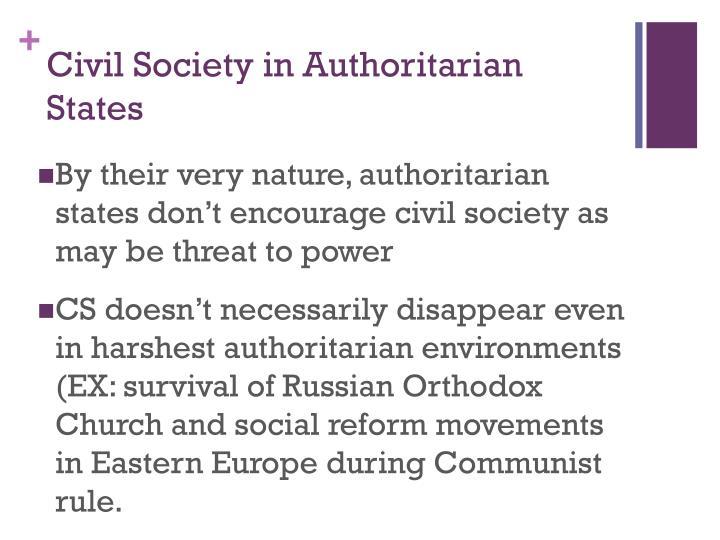 Civil Society in Authoritarian States