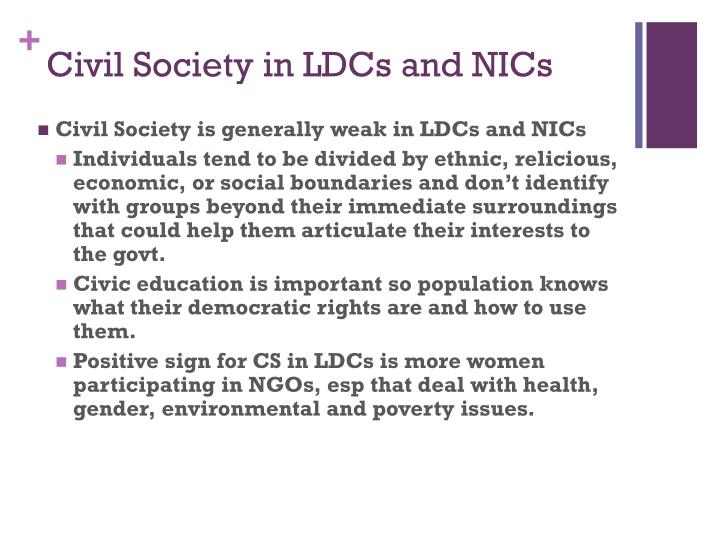 Civil Society in LDCs and NICs