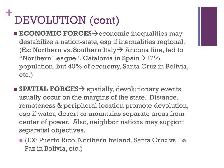 DEVOLUTION (