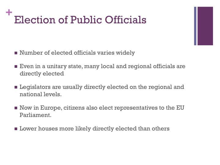 Election of Public Officials