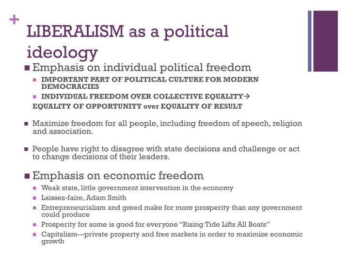 LIBERALISM as a political ideology