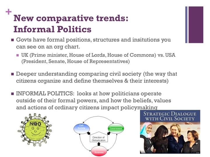 New comparative trends: