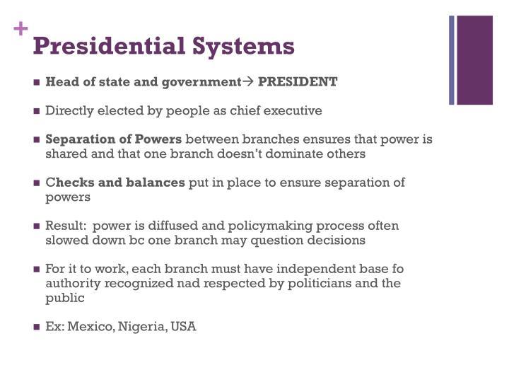 Presidential Systems