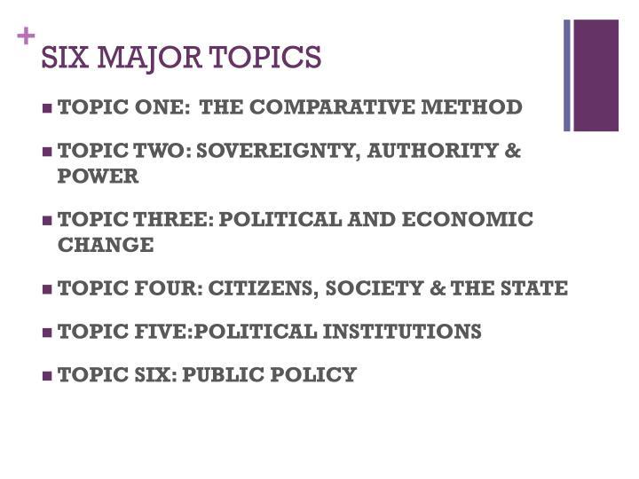 Six major topics