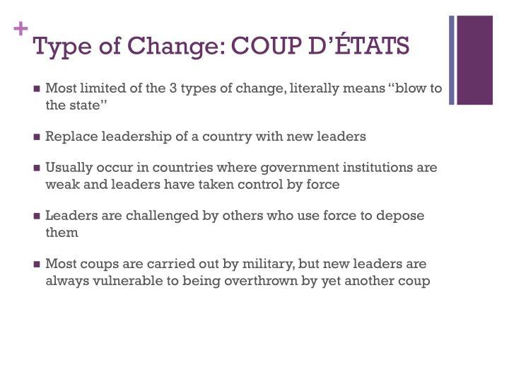 Type of Change: COUP D'ÉTATS