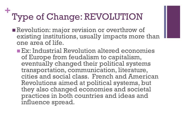 Type of Change: REVOLUTION