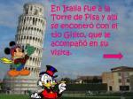 en italia fue a la torre de pisa y all se encontr con el t o gilito que le acompa en su visita1