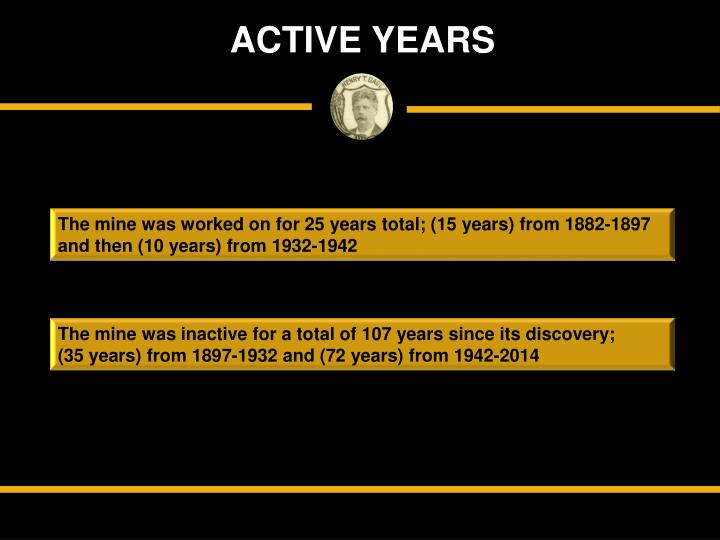 ACTIVE YEARS