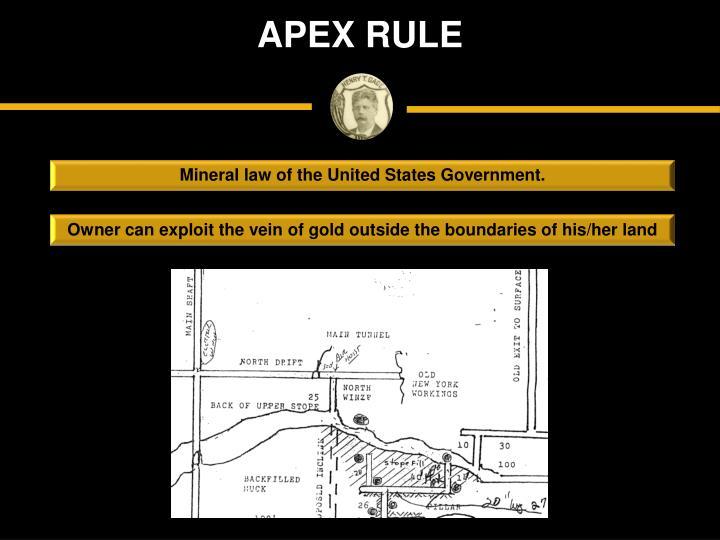 APEX RULE