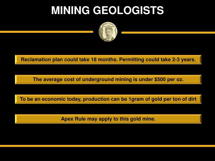 MINING GEOLOGISTS