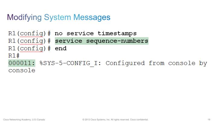 Modifying System Messages