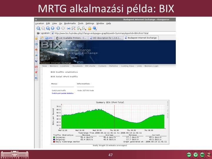 MRTG alkalmazási példa: BIX